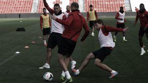 Último entrenamiento y viaje a Barcelona