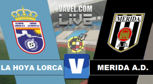 Resultado La Hoya Lorca - Mérida en Segunda División B 2015 (3-1)