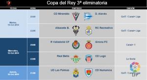 Horarios de Copa y las jornadas 9 y 10 del Real Valladolid