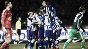 El Hertha Berlín da un paso de gigante hacia la Champions
