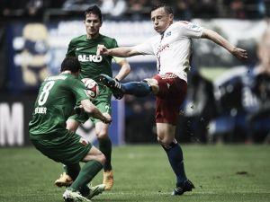 Hamburger SV 3-2 FC Augsburg: Lasogga leads HSV to crucial three points
