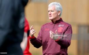 Saints boss Mark Hughes aiming for 'positive' result at Arsenal