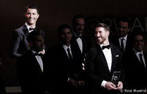 Ronaldo y Ramos representan al Real Madrid en el once mundial de FIFA/FIFPro 2013