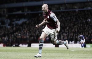 Aston Villa 2-1 Leicester City: Hutton scores the winner to beat 10-men Leicester