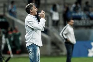 """Animado com a equipe no campeonato, Renato Gaúcho afirma: """"O time todo foi bem"""""""