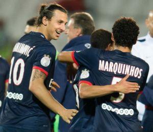 باريس سان جيرمان: غياب كل من ايبراهيموفيتش وماركينيوس عن مباراة موناكو