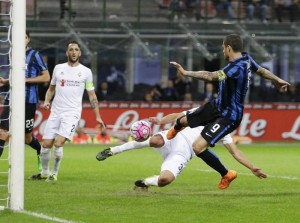 Inter - Fiorentinadiretta in Serie A 2016/17 - Brozovic, Candreva, Icardi, Kalinic, Ilicic, Icardi (4-2)