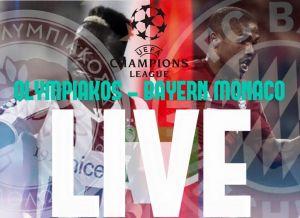 Live Olympiakos vs Bayern Monaco, risultato partita Champions League 2015/16 in diretta (0-3)