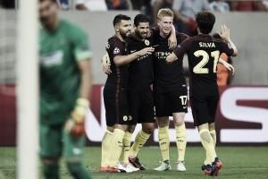 El City de Guardiola golea y se coloca con un pie y medio en la Champions