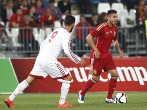 Camarasa participó con la sub-21 en la goleada a Georgia