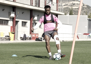 Doukouré vuelve a ejercitarse con el equipo