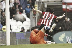 Susaeta protagonizó la última victoria frente a la Real Sociedad
