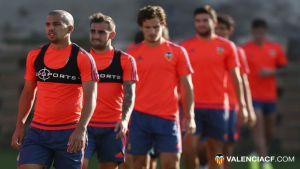 Barragán vuelve con el grupo en la sesión matinal