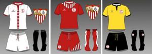 Las equipaciones del Sevilla mostrarán el escudo clásico