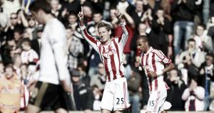 Crouch celebrates anniversary at the Britannia with two goals