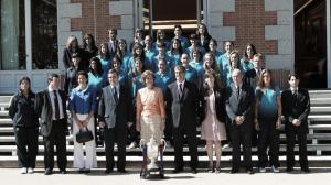 El FC Barcelona Femenino, recibido por la reina Sofía