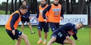 Vigilia di allenamento per il Napoli, in vista della Tim Cup con la Lazio