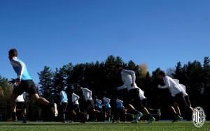 Milan, Biglia in gruppo per tutto l'allenamento
