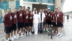 Los jugadores del Peñíscola FS pasan el reconocimiento médico