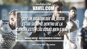 """Rodrigo Arciero: """"Soy un jugador que me gusta estar siempre dentro de la cancha estén las cosas bien o mal"""""""