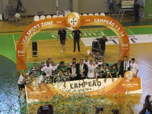 El Sporting revalida la Liga Portuguesa de fútbol sala