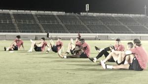 Táctica para la segunda sesión del Sevilla FC en Japón