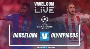 Resumen del partido FC Barcelona vs Olympiacos en la UEFA Champions League