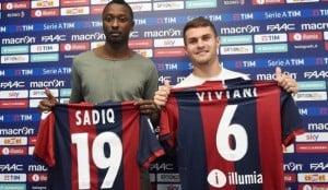 Bologna - Sadiq e Viviani si presentano