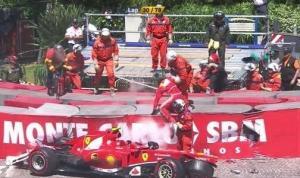 Monaco, Ferrari sfortunata: Alonso solo 7°, Massa in ospedale