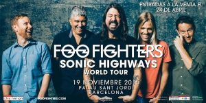 Foo Fighters actuará en Barcelona a finales de año