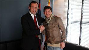 """Sandro Rosell: """"Sería dificilísimo que Messi dejara el Barça"""""""