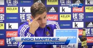 """Iñigo Martínez: """"Creo que están en fase de dudas pero no hay que dudar de su calidad"""""""