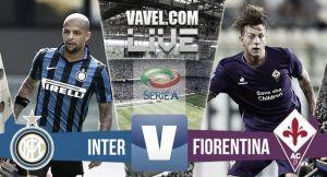 Score Inter Milan vs Fiorentina  in Serie A 2015 (1-4)