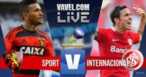 Resultado Sport x Internacional no Campeonato Brasileiro 2016 (1-1)