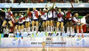 Volley, Under 18: Italia campeón del mundo!