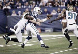 Los Jaguars no aprovechan los errores de los Colts