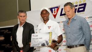 Jaime Ayoví no fue habilitado en Liga de Quito