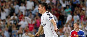 """James: """"Hice un buen partido y espero seguir marcando goles"""""""