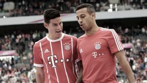 Lesionados, James Rodríguez e Thiago Alcântara desfalcam Bayern na Supercopa da Alemanha