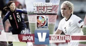 Resultado Japón vs Inglaterra en el Mundial de Canadá 2015 (2-1)