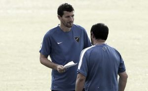 El Málaga vuelve a entrenar con Javi Gracia ya presente