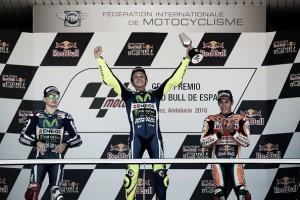 Jerez MotoGP: Mixed reactions on the podium
