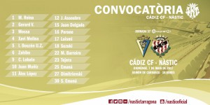 José Carlos se cae de la convocatoria ante el Cádiz
