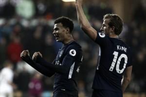 Tottenham bate Swansea fora de casa e ultrapassa Arsenal na tabela