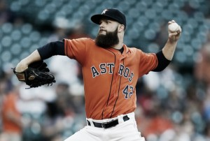 Dallas Keuchel leads Houston Astros to victory over Detroit Tigers in pitchers duel