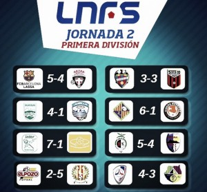 Resumen de la segunda jornada de la Liga Nacional de Fútbol Sala