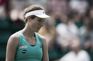 WTA Nottingham: Zheng Saisai upsets Johanna Konta, Tara Moore defeats Christina McHale