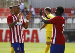 """El Atlético B salva su primer """"match ball"""" ante el San Fernando de Henares"""