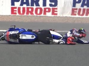 Nuova caduta per Jorge Lorenzo, in forse il Sachsenring