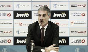 """José Luis Abós:  """"Ha sido un partido para mantener el ritmo"""""""